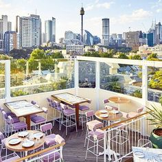 ☀️The terrace bar at East Village in Darlinghurst has to be my number one place to check out this spring! For a full list of our 7 favorite rooftop bars, check out 🥂 East Village, Rooftop Bar, Outdoor Furniture Sets, Outdoor Decor, Terrace, Sydney, Australia, Number, Table Decorations