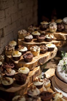Rustic Cup Cake Wedding Cakes
