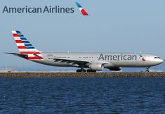 A330, imagined in the new livery of American Airlines