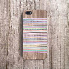 iPhone 6 Case Geomteric iPhone 4 Case, Geometric Cases Stripey Pastel Stripe iPhone 5C Case, Pastel iPhone Case Samsung S5 Case Wood Print