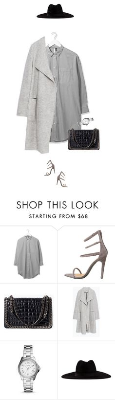 """""""Casually dressed up !"""" by azzra ❤ liked on Polyvore featuring Boutique, Zara, FOSSIL, Filù Hats, women's clothing, women, female, woman, misses and juniors"""