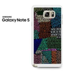 Avenged Sevenfold Lyrics Quotes Samsung Galaxy Note 5 Case
