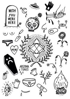 undies, wish u were here Flash Art Tattoos, Body Art Tattoos, Sleeve Tattoos, Kritzelei Tattoo, Doodle Tattoo, Mini Tattoos, Small Tattoos, Cool Tattoos, Tatoos