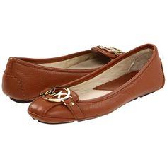 e4b8255a5944 MICHAEL Michael Kors Fulton Moc (Luggage Tumbled Calf) Women's Slip on.