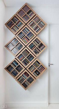 Bath room diy rustic storage ideas 34 Ideas for 2019 Dvd Wall Storage, Living Room Storage, Diy Dvd Shelves, Cd Shelf, Movie Storage, Organizar Dvds, Dvd Regal, Diy Casa, Dvd Rack