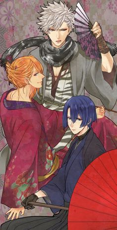 Masato, Ren and some other guy I don't know from Uta no Prince sama
