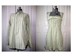 upcycling mens dress shirts | ... Do Clothes | Mens shirt redo fashion-refashioned | upcycling/clothing