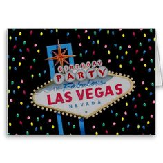 Birthday Party In Fabulous Las Vegas Balloons Card