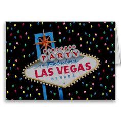 Birthday Party In Fabulous Las Vegas Balloons Card
