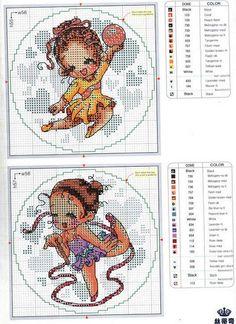 Pinned using PinFace! Cross Stitch Angels, Cross Stitch For Kids, Cross Stitch Cards, Cross Stitch Alphabet, Cross Stitch Baby, Cross Stitching, Cross Stitch Embroidery, Embroidery Patterns, Cross Stitch Patterns