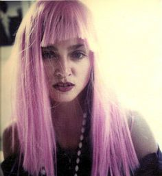 Madonna rocking a pink wig in the 80s (looong before GAGA ever did..lol)