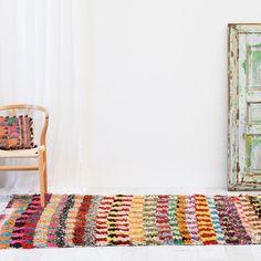Moroccan Vintage Boucherouite Rag Rug
