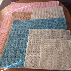 Angel and Preemie Size Blankets. Designed by Michelle Stalker. Beautiful!