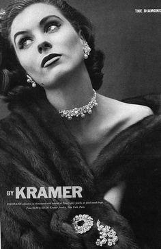 1952 Kramer jewelry ad 'Polonaise'