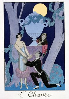"""All That Jazz - mothgirlwings: """"Avarice"""" by Georges Barbier -..."""