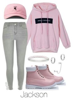 A fashion look from September 2016 featuring River Island jeans, Timberland shoes and Thomas Sabo bracelets. Browse and shop related looks. Cute Casual Outfits, Swag Outfits, Pretty Outfits, Girl Outfits, Teenager Outfits, Outfits For Teens, Summer Outfits, Kpop Fashion Outfits, Cute Fashion