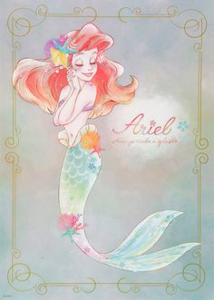 Arial, the little mermaid movie poster, disney art, Magical, colorful geek movie posters Disney Princess Drawings, Disney Princess Art, Disney Drawings, Ariel Mermaid, Ariel The Little Mermaid, Mermaid Art, Ariel Disney, Cute Disney, Disney Magic