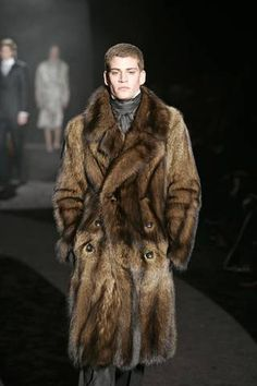 Fisher fur coat. Thanks R Michael for the assist! Men's Fashion Looks On @anandco #furfashion #furonline