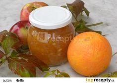 Jablkovo-pomerančový pikantní džem Kimchi, Food And Drink, Orange, Fruit, Cooking, Recipes, Syrup, Pies, Kitchen