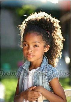 kid hairstyles, little girls, precious children, natur hair, jean jackets, babi, beauti, kinky curly hair, hair kids