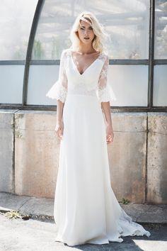 Robes de mariée - Caroline Takvorian - Collection 2018 | Photographe : Charlotte Navio | Donne-moi ta main - Blog mariage