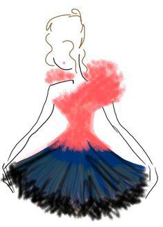 ballet inspired fashion illustration