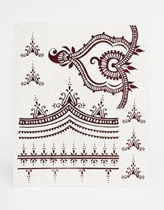 Regal Rose Henna Transfer Body Tattoos