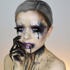 Amp up your Halloween makeup with some glitter.