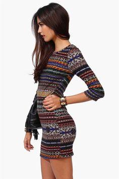 aztec print tribal mini dress bodycon