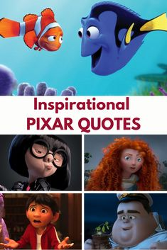 Best Disney Pixar Inspirational Quotes to Live By. Which is your favorite Pixar movie quote? Includes quotes from Disney Coco, Up and Brave movies. Pixar Up Quotes, Up Movie Quotes, Disney Movie Quotes, Disney Brave Quotes, Disney Quotes To Live By, Disney Princess Quotes, Disney Pixar Up, Disney Films, Disney Fun