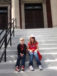 Two of our religious school students on the front steps of the synagogue during an event. Front Steps, Students, Winter Jackets, School, Free, Style, Fashion, Winter Coats, Swag