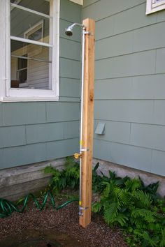 DIY outdoor shower attached to a hose