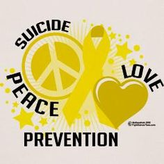 peace & love  suicide prevention is observed September 10th.