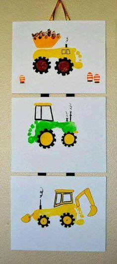 Heavy equipment footprints