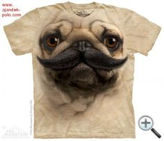 Pug anything! Perhaps one of the sweetest and most adorable creatures on the planet! A tribute to the pug. The Mountain Pug Tee now featured on Fab. Rottweiler, T Shirt Chien, Amor Pug, Mode Geek, Pug Shirt, Big Face, 3d T Shirts, Animal Faces, Pug Love