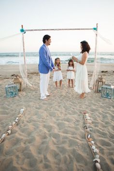 Love this idea for the boys to stand up beside us during the vow renewal ceremony. x