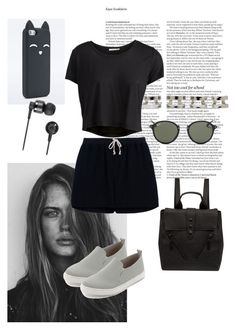 """""""212"""" by tugowore ❤ liked on Polyvore featuring GE, ASOS, Maison Margiela, Rick Owens, Splendid, Pieces, Ray-Ban, Nixon and Kenzo"""