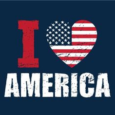 I ♥ America I'm so glad this says America. I'm not into 'merica. Its America.