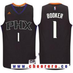 Men s Phoenix Suns  1 Devin Booker Black Stitched NBA adidas Revolution 30  Swingman Jersey Devin 82a38a866