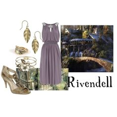 "Lord of the Rings/ The Hobbit-  ""Rivendell"" by companionclothes on Polyvore - I LOVE RIVENDELL AND WANT TO LIVE THERE!"