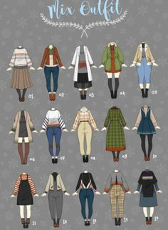 Anime Outfits, Mode Outfits, Fashion Outfits, Fashion Design Drawings, Fashion Sketches, Drawing Fashion, Tumblr Mode, Drawing Anime Clothes, Clothing Sketches