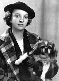 Madeleine L'Engle, age 15. A great author, she was married for 40 years to Hugh Franklin, who portrayed Dr. Charles Tyler on All My Children.
