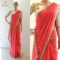 Indian Dresses, Indian Outfits, Sari Design, Indian Ethnic Wear, Saree Styles, Indian Designer Wear, Saree Collection, Lehenga, Blouse Designs