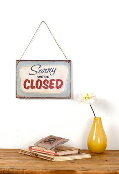 Vintage Style Closed sign by Judydesignstore on Etsy
