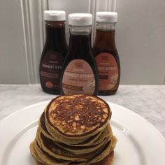 :: Protein Pancakes + Other Favorite Healthy Recipes :: - The Sarcastic Blonde Protein Pancakes, Breakfast Pancakes, Nutrition Guide, Health And Nutrition, Amaretto Cake, Crack Cake, Sugar Free Syrup, Maple Pecan, Stick Of Butter