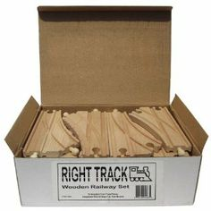 52 Piece Wooden Train Track Pack - 100% Compatible with All Major Brands