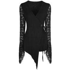 Autumnal Flowers Black Lace Longsleeve Top by Punk Rave ($41) ❤ liked on Polyvore featuring tops, lacy top, flower top, lace top, punk tops and long sleeve tops