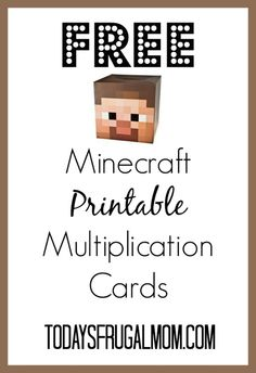 FREE Minecraft Multiplication Flash Cards :: Today's Frugal Mom