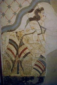 Fresco las damas en la Casa de las Mujeres. Akrotiri