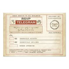 Discount Dealsvintage RSVP WEDDING telegrams Announcementwe are given they also recommend where is the best to buy